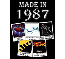 Made in 1987, main historical events Photographic Print
