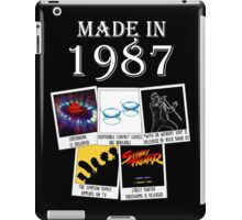 Made in 1987, main historical events iPad Case/Skin