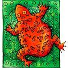 Orange Frog by Julie Nicholls