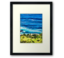 Water on the Rocks 2 Framed Print