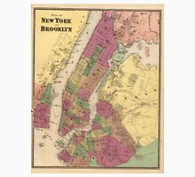 Vintage Map of NYC and Brooklyn (1868) T-Shirt