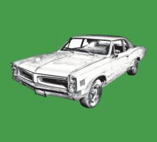 1966 Pontiac Lemans Car Illustration Kids Tee