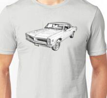 1966 Pontiac Lemans Car Illustration Unisex T-Shirt