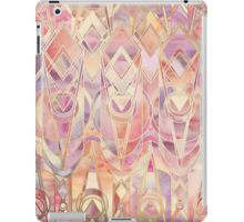 Glowing Coral and Amethyst Art Deco Pattern iPad Case/Skin