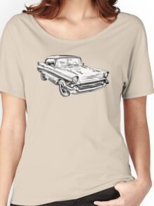 1957 Chevy Belair Illustration Women's Relaxed Fit T-Shirt