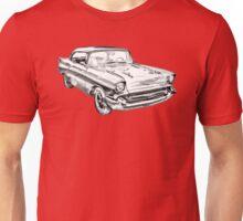 1957 Chevy Belair Illustration Unisex T-Shirt