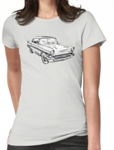 1957 Chevy Belair Illustration Womens Fitted T-Shirt