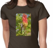 Anna's Hummingbird On Red Hot Poker Womens Fitted T-Shirt