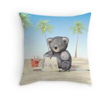 Making a Sand Castle Throw Pillow