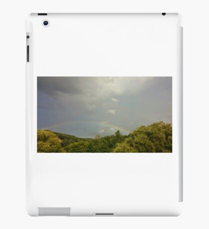 Double Rainbow Over the Trees iPad Case/Skin