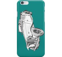 MG Convertible Antique Car Illustration iPhone Case/Skin