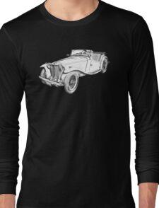 MG Convertible Antique Car Illustration Long Sleeve T-Shirt