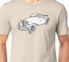 MG Convertible Antique Car Illustration Unisex T-Shirt