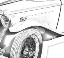 MG Convertible Antique Car Illustration Sticker