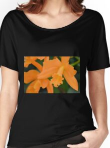 Cluster of Orange Orchids Women's Relaxed Fit T-Shirt