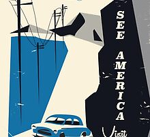 See America - New Mexico Vintage travel poster by Nick  Greenaway