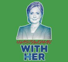 Nasty Woman with Hillary Clinton Kids Tee