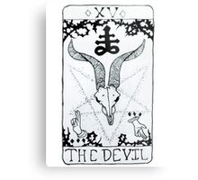 The Devil Tarot Card Metal Print