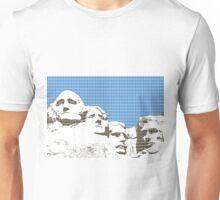 Mount Rushmore - Blue Unisex T-Shirt