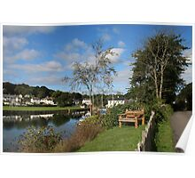 Wooden Bench Mylor Bridge Poster