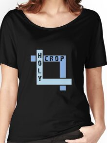 Holy Crop Photographer Artist Funny Design Women's Relaxed Fit T-Shirt