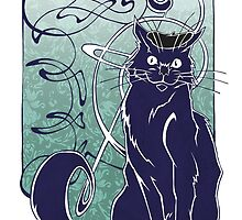 French Cat by Jeff Powers Illustration