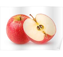 Cut red apples Poster