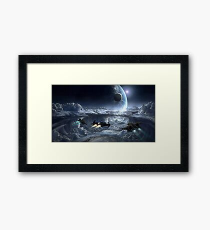 Carrack & Gladius Framed Print