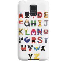 marvel superhero alphabet Samsung Galaxy Case/Skin