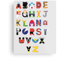 marvel superhero alphabet Metal Print