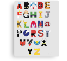 marvel superhero alphabet Canvas Print