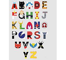 marvel superhero alphabet Photographic Print