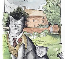 English Cats by Jeff Powers Illustration