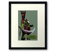 The Blademaster Framed Print