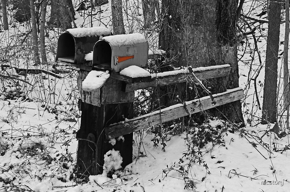 Snowy Mailbox SC by mcstory