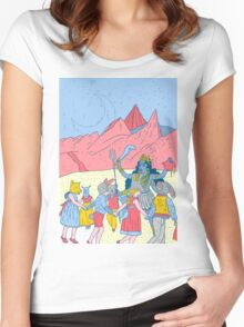 Kali dance  Women's Fitted Scoop T-Shirt
