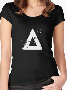 Bastille Birds Triangle White Women's Fitted Scoop T-Shirt