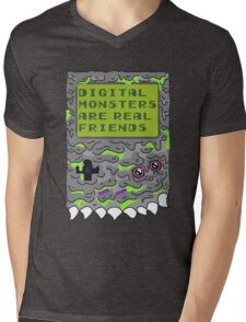 Digital Monsters Are Real Friends! Mens V-Neck T-Shirt