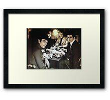 Poker Gangsters Framed Print