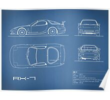 The RX-7 Blueprint Poster