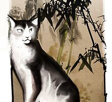 Chinese Cat by Jeff Powers Illustration