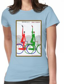 JAPAN CYCLE CLUB; Vintage Bicycle Print Womens Fitted T-Shirt