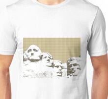 Mount Rushmore - Gold Unisex T-Shirt