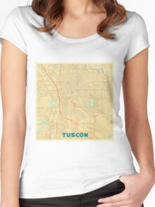 Tuscon Map Retro Women's Fitted Scoop T-Shirt