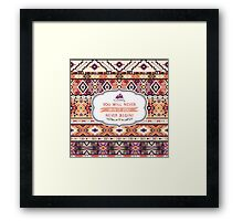 Seamless colorful pattern in tribal style Framed Print