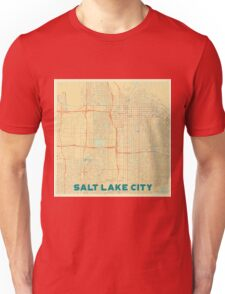 Salt Lake City Map Retro Unisex T-Shirt