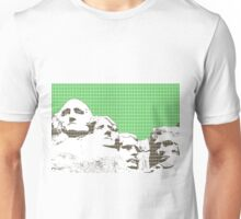 Mount Rushmore - green Unisex T-Shirt