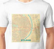 St Louis Map Retro Unisex T-Shirt