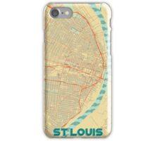 St Louis Map Retro iPhone Case/Skin