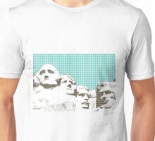Mount Rushmore - Linght Blue Unisex T-Shirt